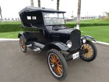 Czarny Ford T budował w 1923 ford motor firmą Fotografia Stock