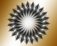 Czarny fractal Zdjęcia Royalty Free
