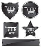czarny fury atłasowy zakupy Fotografia Stock