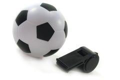 czarny futbolowy gwizd Zdjęcie Stock
