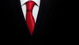 Czarny garnitur z krawatem Zdjęcia Royalty Free