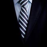 Czarny garnitur z krawatem i Zdjęcie Royalty Free