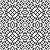 Czarny GEOMETRYCZNY bezszwowy wzór w białym tle zdjęcia royalty free