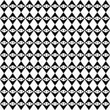 Czarny GEOMETRYCZNY bezszwowy wzór w białym tle Fotografia Royalty Free