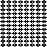 Czarny GEOMETRYCZNY bezszwowy wzór w białym tle Obraz Royalty Free