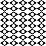 Czarny GEOMETRYCZNY bezszwowy wzór w białym tle Fotografia Stock