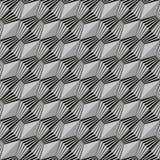 czarny geometryczny deseniowy bezszwowy biel Fotografia Royalty Free