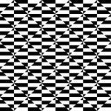 czarny geometryczny deseniowy biel Płynnie powtarzalny ilustracja wektor