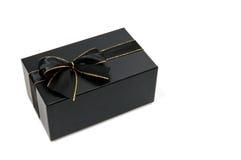 czarny giftbox Fotografia Royalty Free