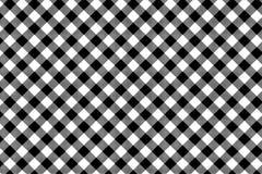 Czarny Gingham wz?r Tekstura od rhombus, kwadrat?w dla/- szkocka krata, tablecloths, odziewa, koszula, suknie, papier, po?ciel, k royalty ilustracja
