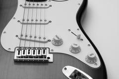 czarny gitara white Obraz Royalty Free
