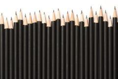 czarny grafitowi ołówki Zdjęcie Stock