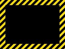 czarny, granica żółty Zdjęcie Stock