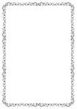 czarny graniczny white dekoracyjny Fotografia Royalty Free