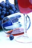 czarny grona winogrona czerwone wino zdjęcie stock