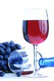 czarny grona winogrona czerwone wino zdjęcie royalty free