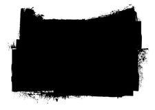 czarny grunge atramentu splat lampas Zdjęcia Stock