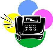 Czarny gruntowy telefon Fotografia Stock