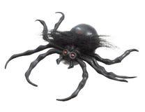 Czarny gumowy pająk zdjęcie stock