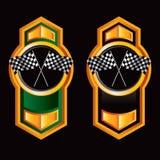 czarny guzików flaga zielony target421_0_ Zdjęcia Royalty Free