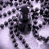 Czarny gwoździa lakier Obraz Royalty Free