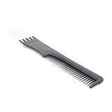 Czarny hairbrush na białym tle odosobniony Zdjęcia Stock