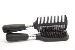 Czarny hairbrush z szyją Obrazy Royalty Free