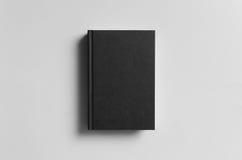 Czarny Hardcover książki egzamin próbny - przód zdjęcie stock