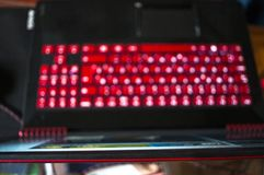 Czarny hazardu laptop Obraz Stock