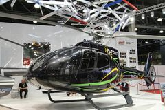 czarny helikopter Obrazy Royalty Free