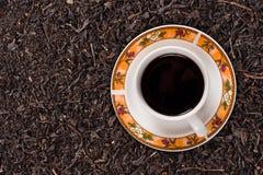 czarny herbata fotografia stock