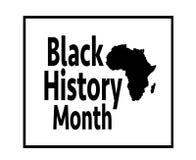Czarny historia miesiąc Fotografia Royalty Free
