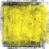 Czarny i żółty smudge tło Zdjęcia Stock