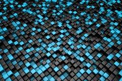 Czarny i błękitny sześcianu tło Obrazy Stock