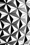 Czarny i biały trójboka wieloboka tapeta, abstrakta styl ilustracja wektor