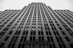 Czarny i biały wysoki budynek w San Francisco Kalifornia obrazy stock