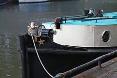 Czarny i biały łódkowaty zbliżenie Zdjęcie Stock