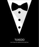 Czarny i biały łęku krawata smoking Zdjęcia Stock