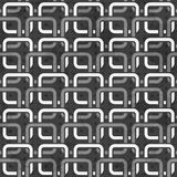 Czarny i biały łańcuchów bezszwowy wzór Obraz Royalty Free