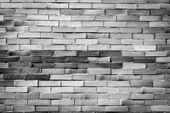 Czarny i biały ściana z cegieł dla tła 2 Zdjęcie Stock