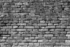 Czarny i biały ściana z cegieł dla tła 8 Fotografia Stock