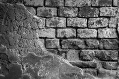 Czarny i biały ściana z cegieł dla tła 9 Obrazy Royalty Free
