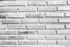Czarny i biały ściana z cegieł tekstura Obraz Royalty Free