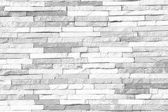 Czarny I Biały ściana z cegieł wzór nowożytni stylowi projektów decora Zdjęcie Royalty Free