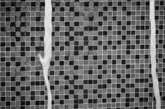 Czarny I Biały Ścienna tekstura fotografia stock
