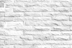 Czarny i biały ściennej tekstury, Abstrakcjonistycznego tła popielaty ceglany wa/ Obrazy Royalty Free