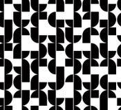 Czarny i biały abstrakcjonistyczny bezszwowy wzór, wektorowy kontrasta regul Zdjęcia Stock