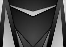 Czarny i biały abstrakcjonistyczny geometryczny techniki tło Obrazy Royalty Free