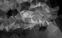 Czarny i biały abstrakcjonistyczny tło wielobok Zdjęcia Stock