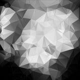 Czarny i biały abstrakcjonistyczny tło wielobok Zdjęcia Royalty Free